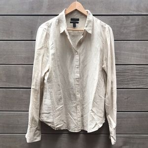 Linen/Cotton J. Crew Button Down
